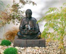Japanese garden buddha