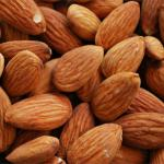 Almonds with their husk and hull removed.