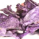 Chips made from vitelotte black potato are a surprising intense violet.