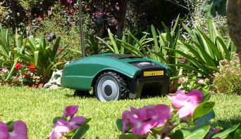 Manual lawn mowers and robots, convenient for smaller surfaces