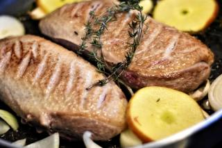 Recipe to cook duck magret with quince