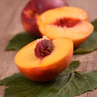 Sliced open nectarine replete with health benefits