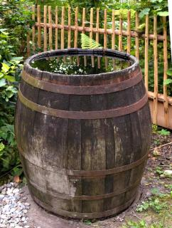 Wooden rainwater barrel