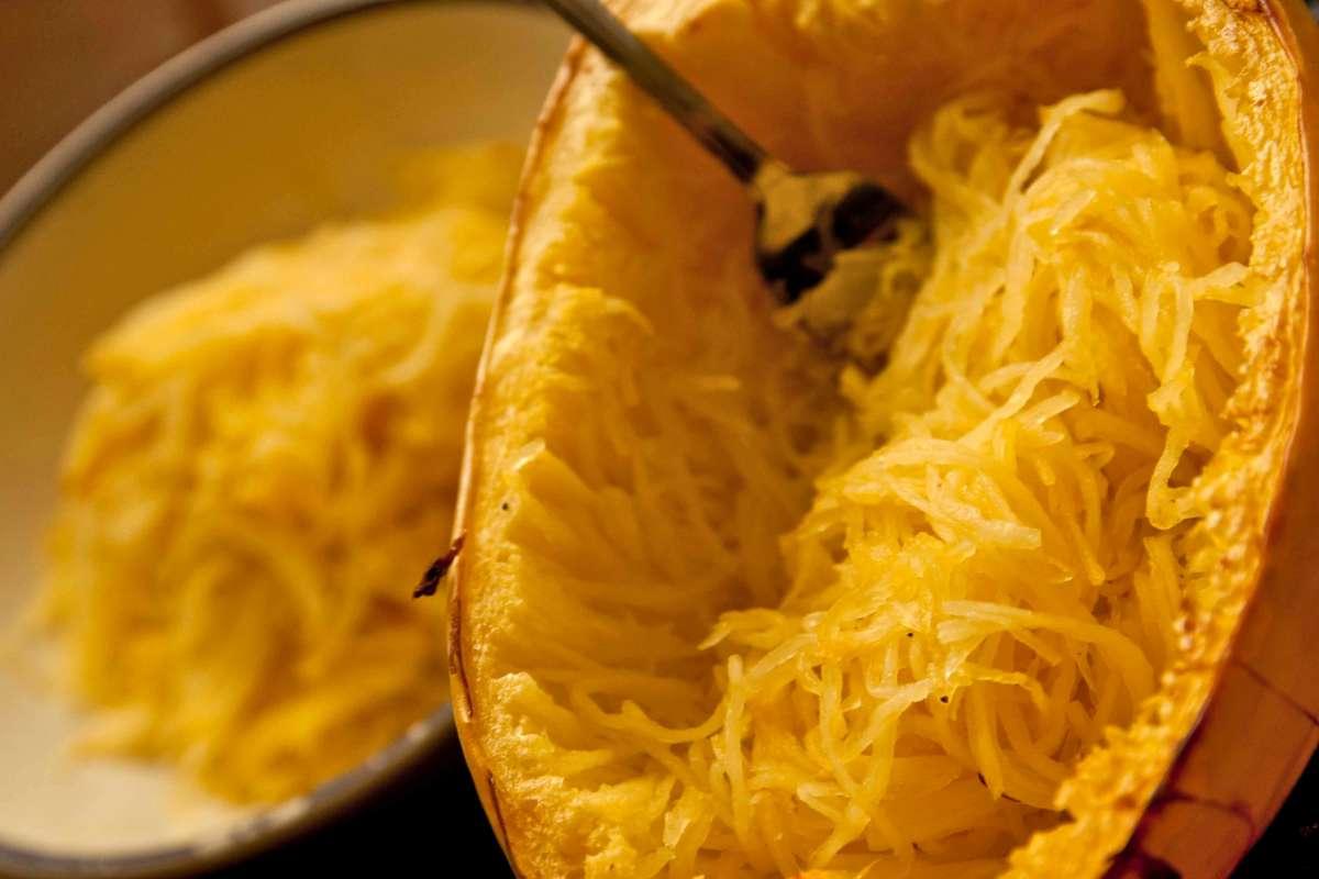 Spaghetti squash, surprising flesh