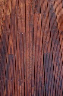 Black locust wood terrace