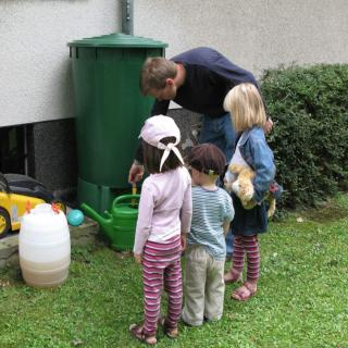 Rainwater collecting helps stay at home while gardening