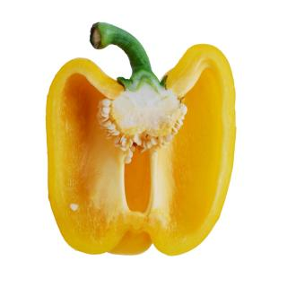 No need to buy bell pepper seeds - this yellow paprika has many inside it!