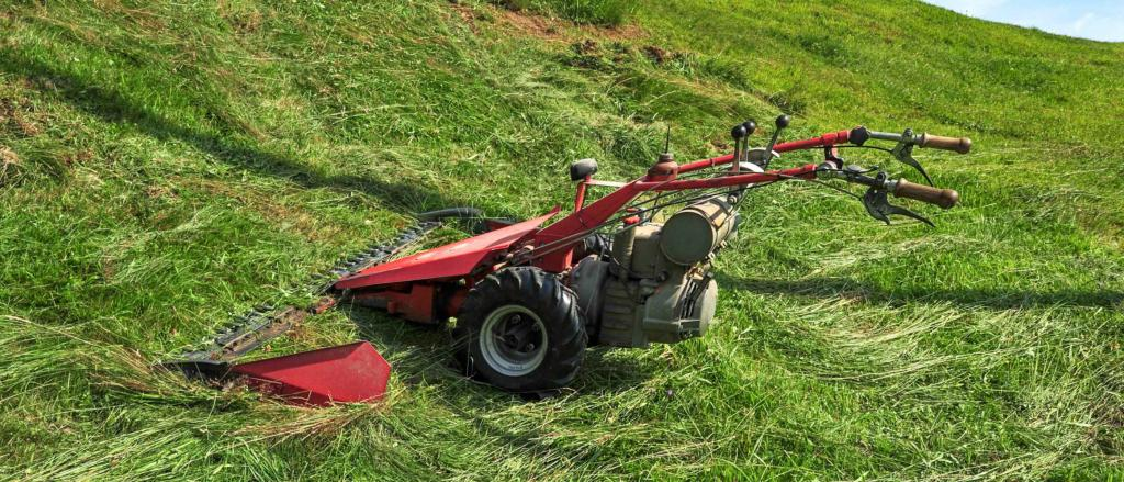 Heavy-duty grass cutting machine.