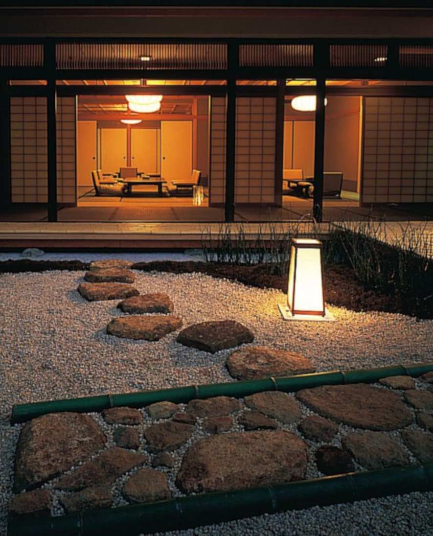 Zen rock garden in Japan, private house
