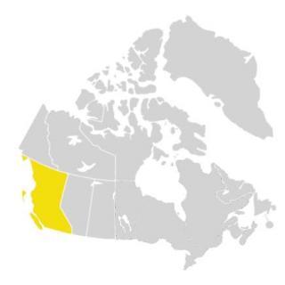 Canada invasive range of tamarisk