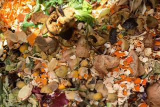 Compost that is well balanced with one-fourth of lawn grass