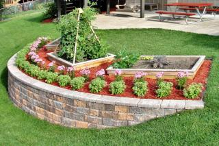 Terracing a slope to create a raised garden