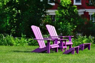 Relaxing chairs, bright purple