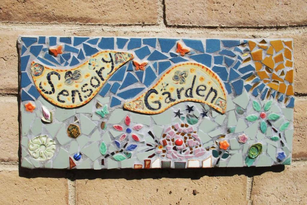 Sensory garden plaque